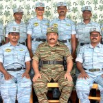 LTTE leader Velupillai Pirapaharan with Tamileelam Air Force (TAF)