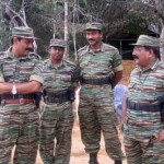 LTTE leader with Tiger commanders with air tigers