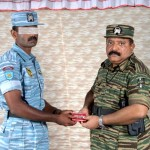 Mr. Pirapaharan awards a TAF airman
