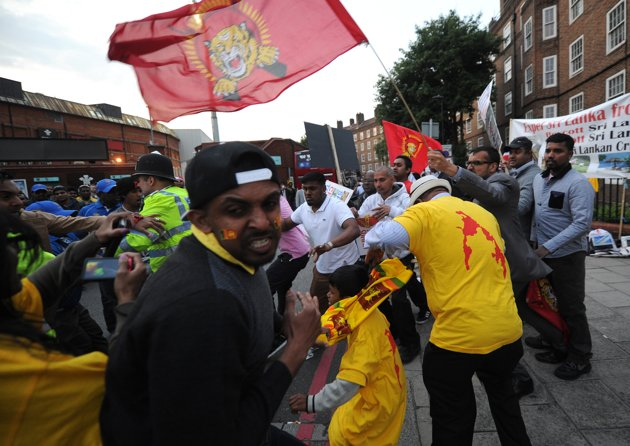 londan sl cricket protest