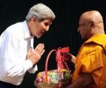 US Secretary of State John Kerry lank monk